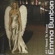 Click here for more info about 'Emma Bunton - All I Need To Know'