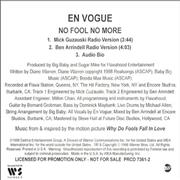 Click here for more info about 'En Vogue - No Fool No More'