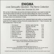 Click here for more info about 'Enigma - Love Sensuality Devotion: The Remix Collection'