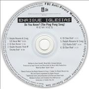 Click here for more info about 'Enrique Iglesias - Do You Know ? [The Ping Pong Song] - Remixes'