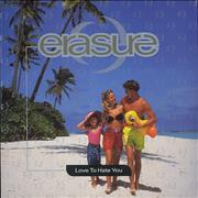 "Erasure Love To Hate You UK 7"" vinyl"