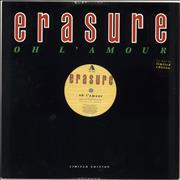 Click here for more info about 'Erasure - Oh L'amour - Stickered sleeve'