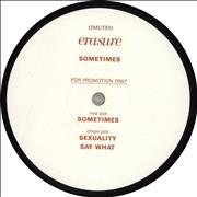 Click here for more info about 'Erasure - Sometimes - Red/White label'