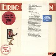 Click here for more info about 'Eric Clapton - At His Best - White Label Promo + Sealed'