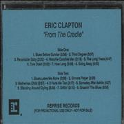 Click here for more info about 'Eric Clapton - From The Cradle'