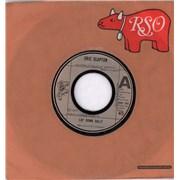 "Eric Clapton Lay Down Sally - Wide UK 7"" vinyl"