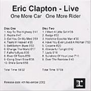 Click here for more info about 'Eric Clapton - One More Car, One More Rider'