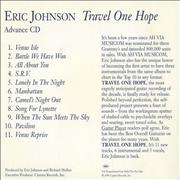 Click here for more info about 'Eric Johnson - Travel One Hope'