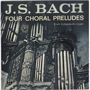 "Erich Vollenwyder J.S. Bach: Four Choral Preludes UK 7"" vinyl"
