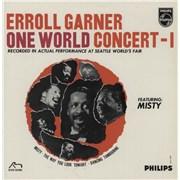 "Erroll Garner One World Concert Vol. 1 UK 7"" vinyl"