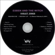 Esben And The Witch Violet Cries USA CD album Promo