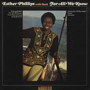 Esther Phillips For All We Know UK vinyl LP