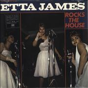 Etta James Rocks The House - Blue Vinyl USA vinyl LP
