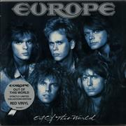 Click here for more info about 'Europe - Out Of This World - Red Vinyl - gold promo stamp'