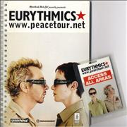 Click here for more info about 'Eurythmics - 1999 Peace Tour Itinerary and AAA Pass'