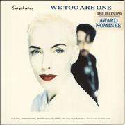 Click here for more info about 'Eurythmics - We Too Are One - Stickered Sleeve'