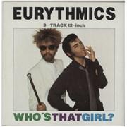 """Eurythmics Who's That Girl Australia 12"""" vinyl"""