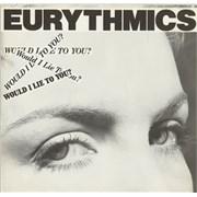 """Eurythmics Would I Lie To You? UK 12"""" vinyl"""