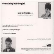 Click here for more info about 'Everything But The Girl - Love Is Strange'