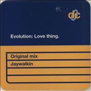 Click here for more info about 'Evolution - Love Thing'