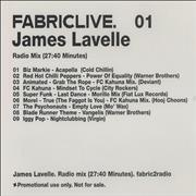 Click here for more info about 'Fabric - 01: James Lavelle - Radio Mix'