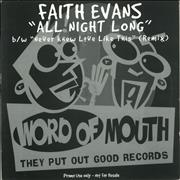 Click here for more info about 'Faith Evans - All Night Long / Never Knew Love Like This (Remix)'