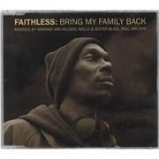 Faithless Bring My Family Back - CD2 - 1st Edition UK CD single