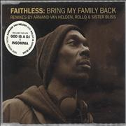 Faithless Bring My Family Back - CD2 - 2nd Edition UK CD single