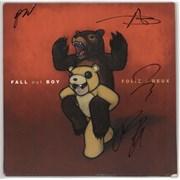 Fall Out Boy Folie A Deux - Coloured Vinyl - Autographed USA 2-LP vinyl set