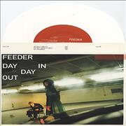 Click here for more info about 'Feeder - Day In Day Out - White vinyl'