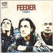 Click here for more info about 'Feeder - High - Sky Blue vinyl'