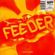 """Feeder Two Colours - clear vinyl UK 7"""" vinyl"""