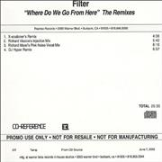 Click here for more info about 'Filter - Where Do We Go From Here - Remixes'