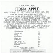 Click here for more info about 'Fiona Apple - When The Pawn'