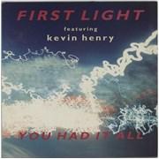 First Light You Had It All UK vinyl LP