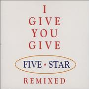 Click here for more info about 'Five Star - I Give You Give'