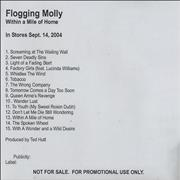 Click here for more info about 'Flogging Molly - Within A Mile Of Home'