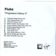 Click here for more info about 'Fluke - Progressive History X'