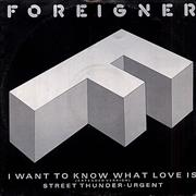 Click here for more info about 'Foreigner - I Want To Know What Love Is - P/S'