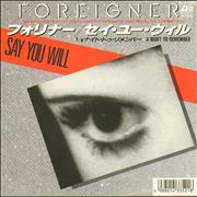 Click here for more info about 'Foreigner - Say You Will'