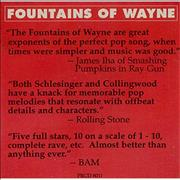 Click here for more info about 'Fountains Of Wayne - Sink To The Bottom'