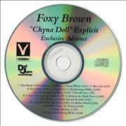 Foxy Brown Chyna Doll - Explicit USA CD-R acetate Promo