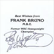 Click here for more info about 'Frank Bruno - Autographed Frank Bruno Photocard'