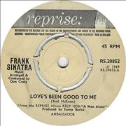 Click here for more info about 'Frank Sinatra - Love's Been Good To Me - 4 prong'