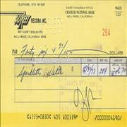 Click here for more info about 'Frank Zappa - Discreet Label Cheque'