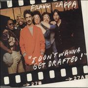 Frank Zappa I Don't Wanna Get Drafted - Jewel Case Sweden CD single