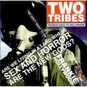 """Frankie Goes To Hollywood Two Tribes - Reissue UK 7"""" vinyl"""