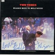 """Frankie Goes To Hollywood Two Tribes - autographed UK 12"""" vinyl"""