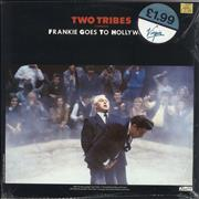 """Frankie Goes To Hollywood Two Tribes (Carnage) - stickered shrink UK 12"""" vinyl"""
