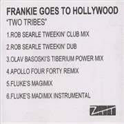 Frankie Goes To Hollywood Two Tribes UK CD single Promo
